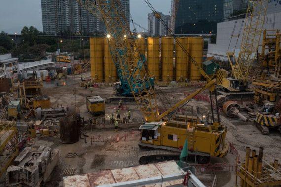 iluminación en la industria de la construcción
