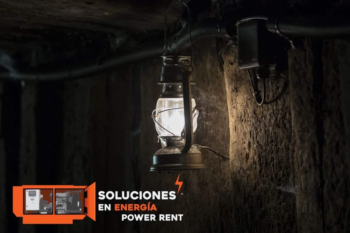 iluminación en la industria minera