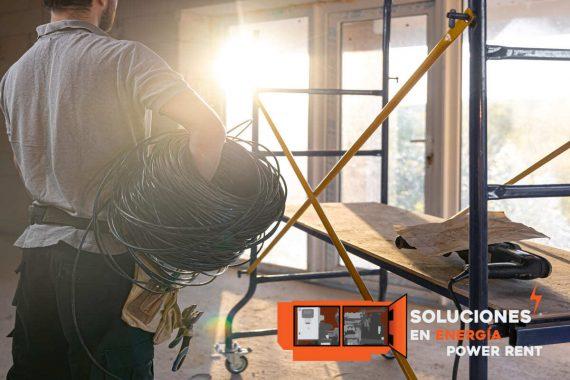 distribución eléctrica industria construcción