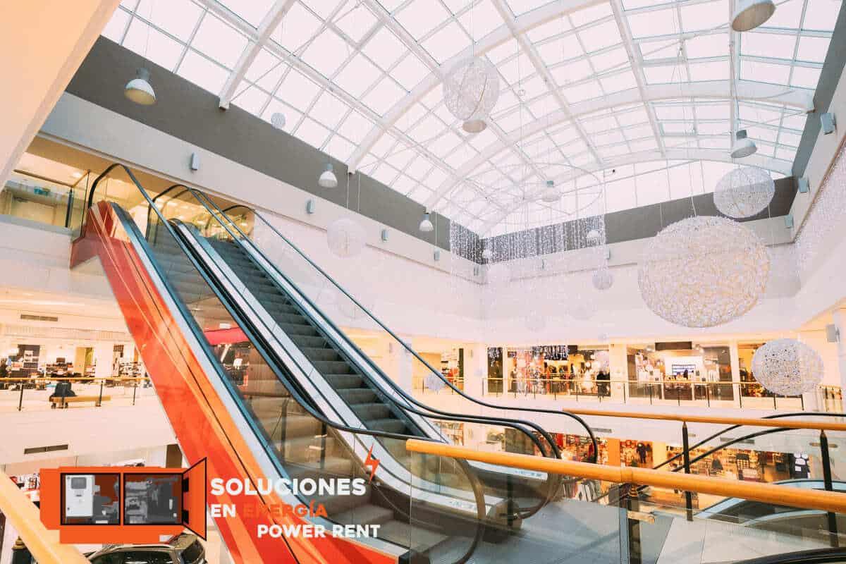 electricidad y los centros comerciales